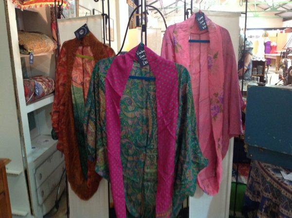 Silk sari tops