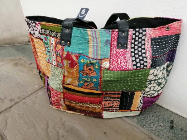 Kantha patchwork weekend bags