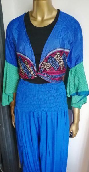 Short sari top