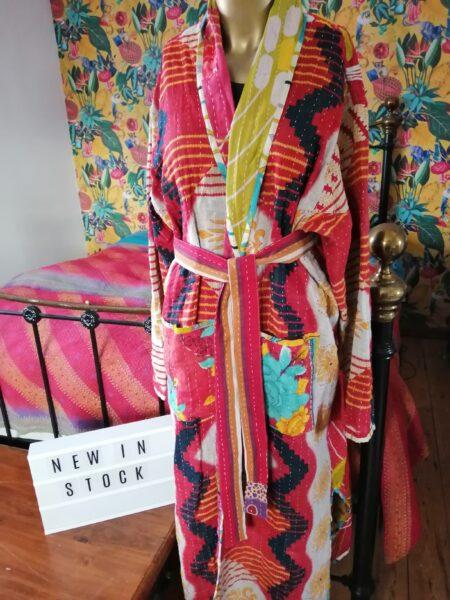 Reversible kantha jacket /robe